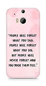AMEZ people will forget what you said did Back Cover For HTC One M8