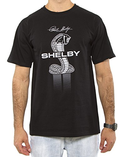 Shelby Cobra Collage Adult T-shirt (Large, Black) (License Plate Louver compare prices)