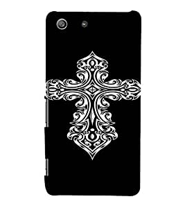 PrintVisa Tribal Art Cross Design 3D Hard Polycarbonate Designer Back Case Cover for Sony Xperia M5 Dual