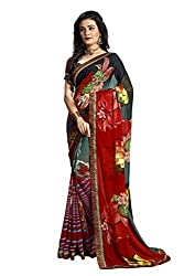 SNOVA Women's Trendy Bollywood Georgette Saree
