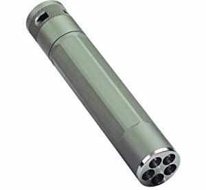 Inova X5DM-HT High/Low Mode Flashlight with 3 Position Switch and 5 White LEDs, Titanium