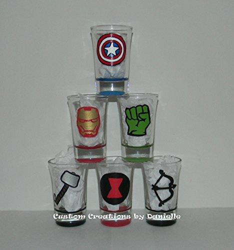 Avengers shot glass set of 6