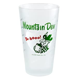 Mountain Dew Vintage Style Logo Glass, Set of 4