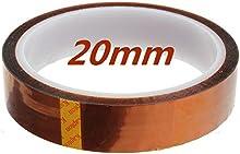 Comprar SODIAL(R) 100 pies 33m 20mm Kapton cinta de alta temperatura de calor de poliimida resistente