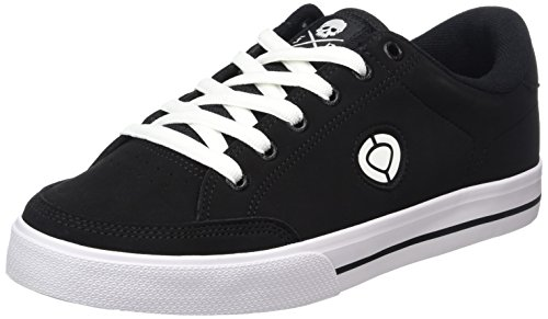 C1RCA - Lopez  50, Sneakers unisex, color Nero (Black/White/Logo), talla 42.5