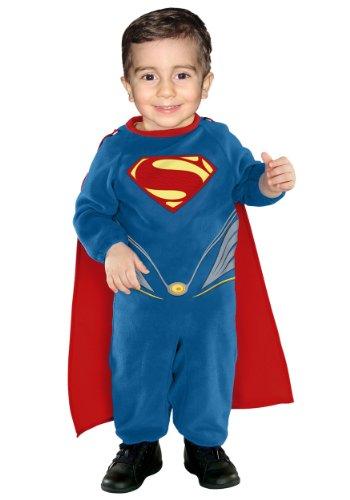 Baby Boys' Superman Ez On Romper Infant (6-12 Months)