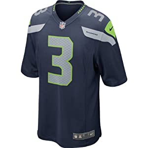Buy NFL Russell Wilson Seattle Seahawks #3 Home Blue Game Day Jersey Youth X-Large (size 18 20) by Football Fanatics