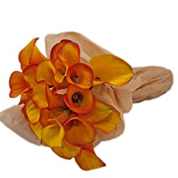 Orange Calla Lily Bouquet, Callafornia Callas