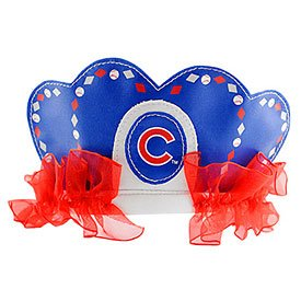 [MLB Chicago Cubs Princess Tiara, Blue] (Cubs Fan Costume)