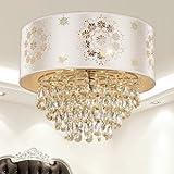 Lustre en cristal lampe du salon de la chambre moderne à la mode créative Lampe d'étude lustre de restaurant avec des ornements