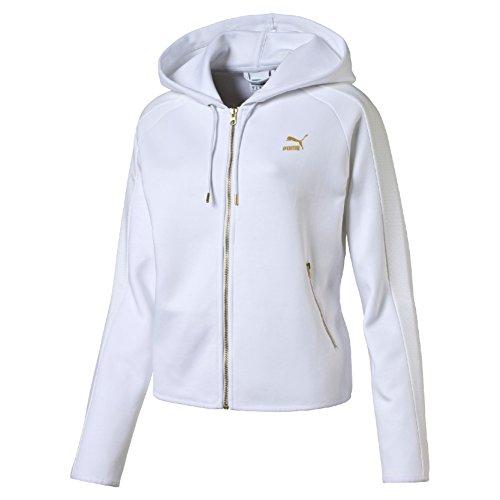Puma Gold T7 Fullzip Felpa Sportiva - Bianco (Bianco) - M