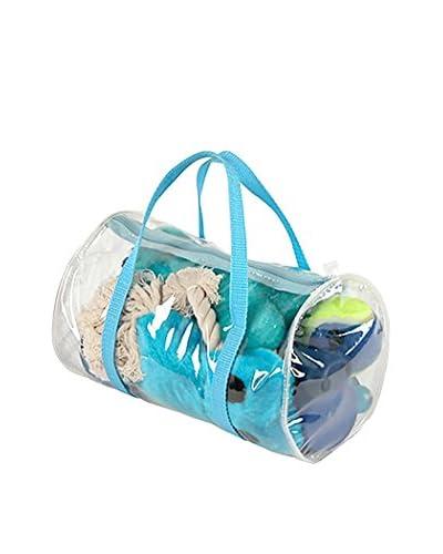 Pet Life Pet Toy Set in Duffel Bag, Blue