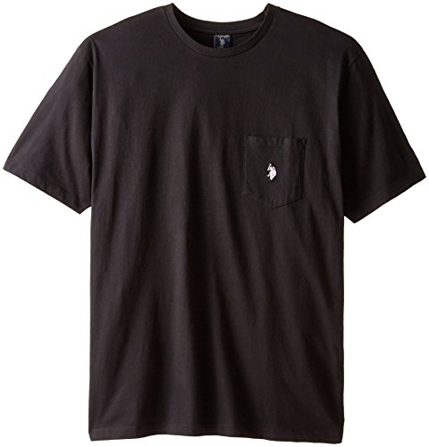 U.S. Polo Assn. Men's Big-Tall V-Neck Short Sleeve T-Shirt, Black, 3X (Big And Tall V Neck T Shirts compare prices)