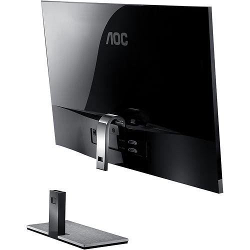 AOC - 27 Widescreen Flat-panel IPS LED Hd Monitor - Piano Black/silver центральный громкоговоритель monitor audio gold c150 piano black