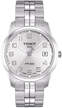 Tissot Silver Dial PR100 Men's Watch