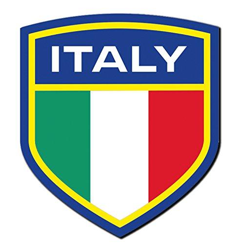 2-x-glossy-vinyl-stickers-italy-flag-crest-italian-ipad-fun-laptop-decal-4013