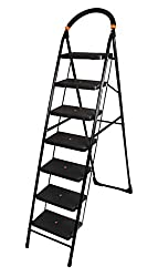 Cipla Plast Folding Ladder with Wide Steps - Milano 7 Steps + Free 14 Pcs Multipurpose Buffers - GEC-L7M