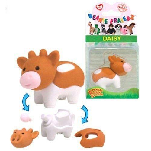 Ty Beanie Eraserz - Daisy the Cow - 1