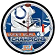 Indianapolis Colts Super Bowl 41 Champ Wall Clock - Round