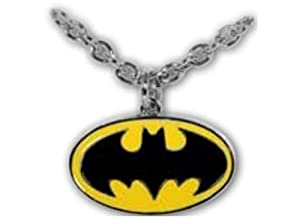 Batman Dark Knight Rises 2012 Black and Yellow Oval Necklace