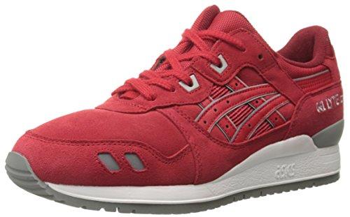 ASICS GEL Lyte III Retro Running Shoe, Red/Red, 7 M US