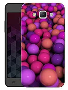 """Humor Gang Purple Balls Pattern Printed Designer Mobile Back Cover For """"Samsung Galaxy A3"""" (3D, Matte, Premium Quality Snap On Case)"""
