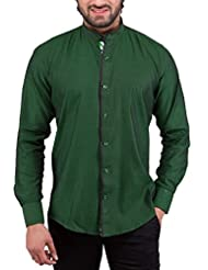 Tag & Trend Men's Slim Fit Casual And Party Wear INDIA GREEN Shirt By TRADIX INNOVATIONS