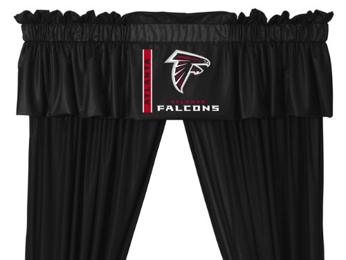 Set of 2 (Two) Atlanta Falcons 5 Pc Valance/Drape Set (Drapes Size 82 X 63) - SAVE ON BUNDLING! at Amazon.com
