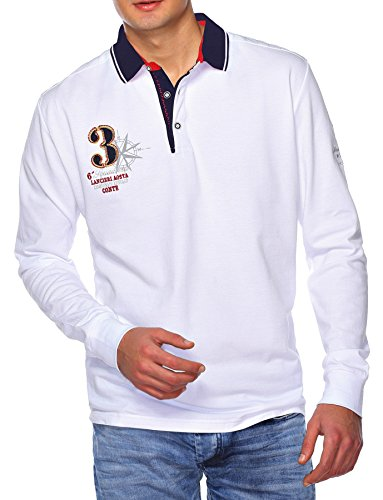 Sweat Maglietta T-Shirt Polo Felpa manica lunga per uomo di M.Conte Mauregato bianco XXL