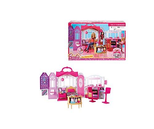 Mattel Barbie CHF54 - Glam Ferienhaus, Puppenzubehör
