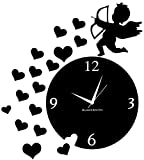 Blacksmith Aluminium Cupid Arrow Wall Clock (Black)