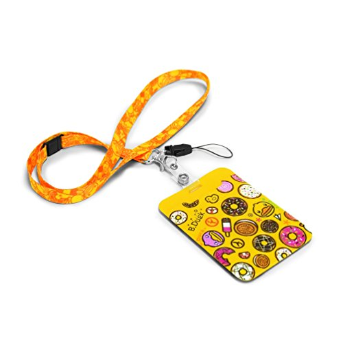B.Duck Card Holder with Strap, Yellow