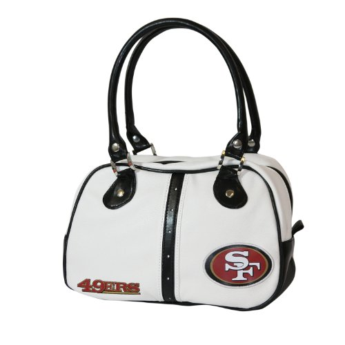 NFL San Francisco 49Ers Ethel Pebble Handbag, White at Amazon.com
