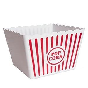 Amazon Com Plastic Popcorn Tub 8 5 Quot Square By I Q
