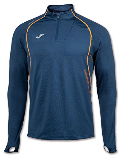 JOMA OLIMPIA FLASH SWEATSHIRT 1/2 ZIP RUNNING NAVY M
