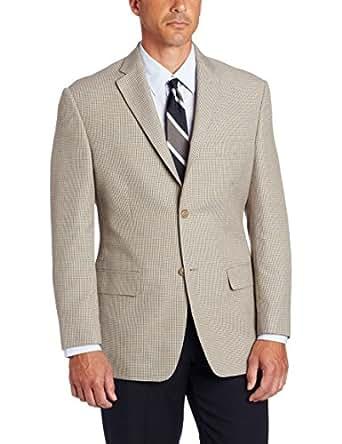 Haggar Men's Mini Houndstooth Sport Coat,  Khaki, 40 S