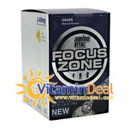 Amino Vital Focus Zone, Grape, 8-4 Packs