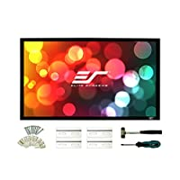 Elite Screens Sable Frame 2  138-inch 2.35:1  Fixed Frame Home Theater Projection Projector Screen  ER138WH2-Wide<br />