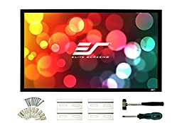 Elite Screens Sable Frame 2, 109-inch 16:10, Fixed Frame Home Theater Projection Projector Screen, ER109WX2