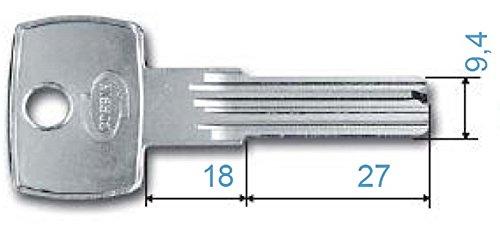 CORBIN CHIAVE GREZZA PK350.51.00 X CIL.PC700 Confezione da 5PZ