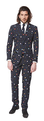Mens Pac Man Suit With Tie from OppoSuits. Premium 3 piece Suit availble in sizes up to XXXX-Large.