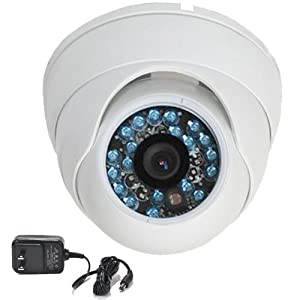 "VideoSecu Day Night Vision CCTV Home Security Camera 1/3"" SONY CCD Outdoor Vandal Proof 420TVL 3.6mm Wide View Angle Lens with Free Power Supply 1WX"