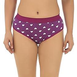 Gujarish Eye Catching Purple Cotton Panties