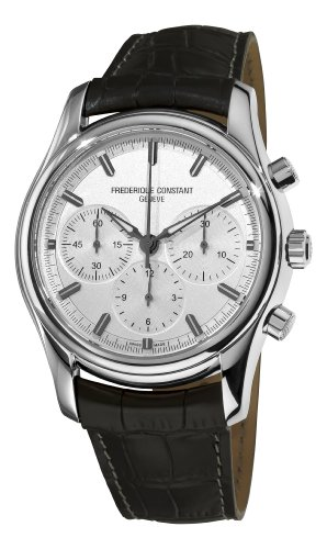 Frederique Constant Men's FC-396S6B6 Peking To Paris Silver Chronograph Dial Watch