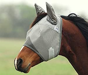 Cashel Fly Mask With & Without Ears and/or Nose 7 Sizes (With Ears only, Horse)