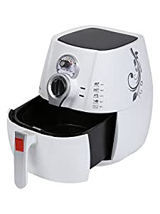 BrightFlame 3.2 Litres Air Fryer, White (Fry, Grill, Bake & Roast)
