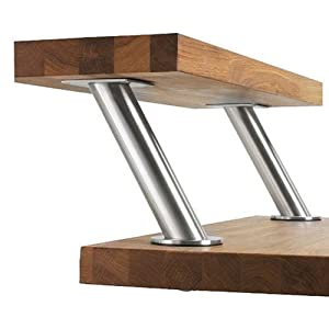 Set of 2 ikea capita stainless steel legs furniture legs Ikea table legs
