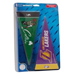 Buy National Basketball Association Mini Pennant Set - Team Color by More NBA Teams