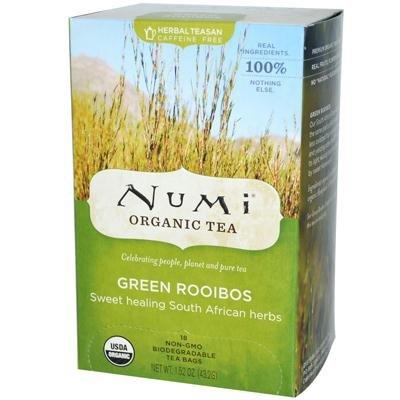 Numi Tea Organic Green Roobios Herbal Tea ( 6X18 Bag)