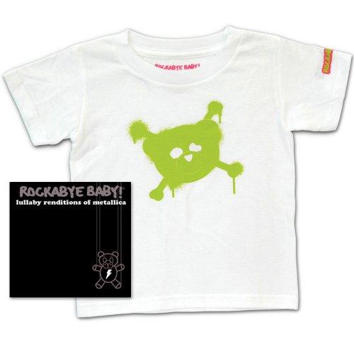 Rockabye Baby Lullaby Renditions of Metallica Rockabye Baby 100 Organic Cotton Toddler T Shirt White Green